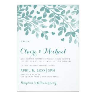 EDITABLE DESIGN COLOR Hearts & Branches Invitation