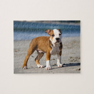 Editable Dog on the Beach Jigsaw Puzzle