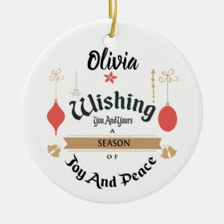 Editable Enchanted Christmas Ornament