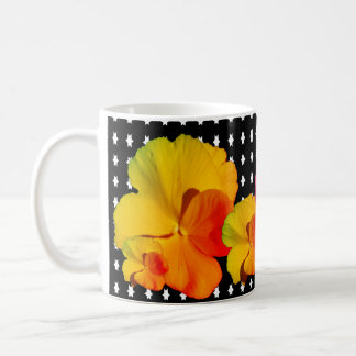 Editable Flowers show on a Coffee Mug