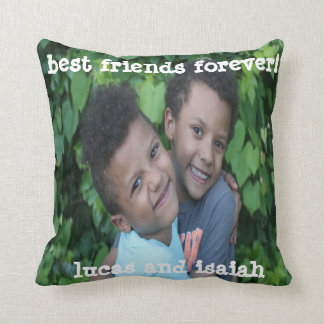 Editable Friendship Polyester Throw Pillow