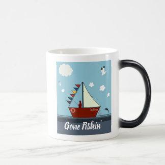 Editable Gone Fishing Morphing Mug