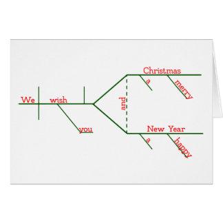 EDITABLE Grammatically Diagrammed Merry Christmas Card