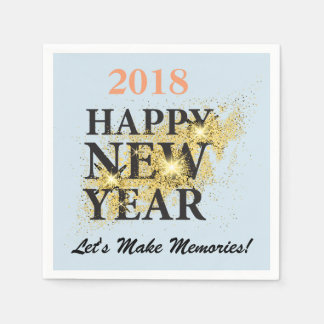 Editable Happy New Year Standard Cocktail Napkins Disposable Napkin