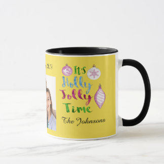 Editable Holly Jolly Christmas Mug