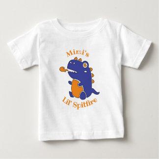 EDITABLE Little Spitfire Monster for Grandparents Baby T-Shirt