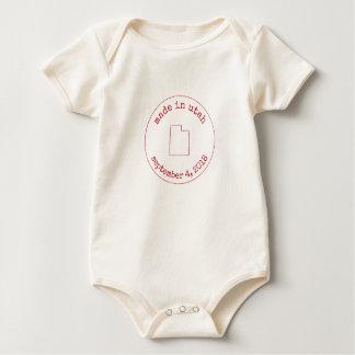 Editable Made in Utah Stamp of Approval Baby Bodysuit