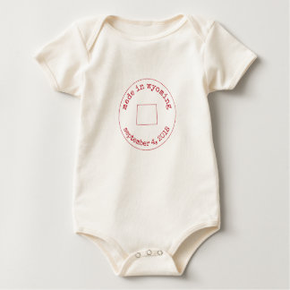 Editable Made in Wyoming Stamp of Approval Baby Bodysuit