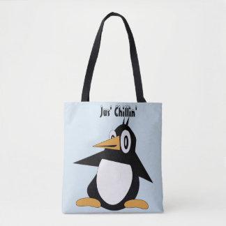 Editable Percius The Penguin Tote Bag