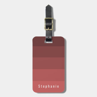Editable Personal Coral Red Hues Luggage Tag