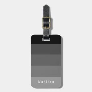 Editable Personal Gothic Black Gray Hues Luggage Tag