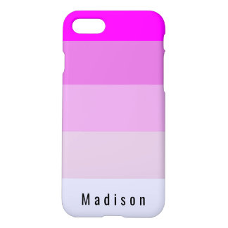 Editable Personal Magenta Orchid Violet Mauve Hues iPhone 8/7 Case
