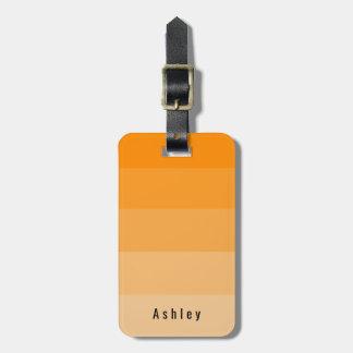 Editable Personal Orange Tangerine Citrine Hues Luggage Tag