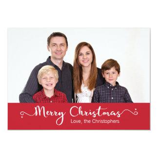 Editable Photo Holiday Greeting Card