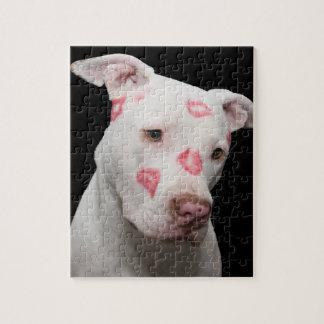 Editable Pitbull Lover Jigsaw Puzzle