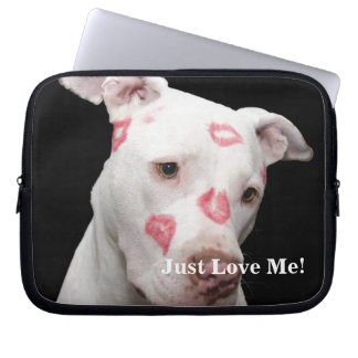 Editable Pitbull Lover Laptop Sleeve