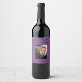 Editable Purple Grape   Photo Wine Label