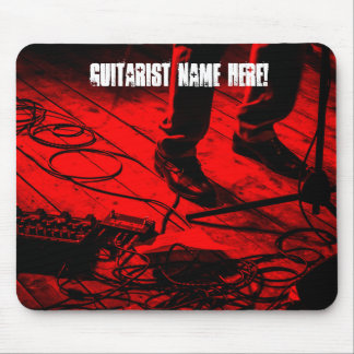 Editable Red Effects Pedals Guitarist Mouse Pad