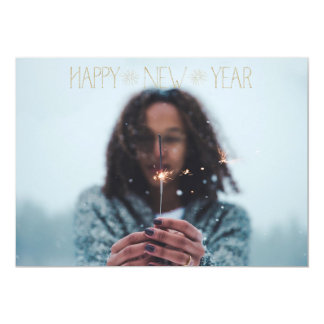 EDITABLE Sparkly Gold Happy New Year Card