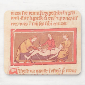 edition of 'Book of Surgery' by Rogier de Salerne Mouse Pad