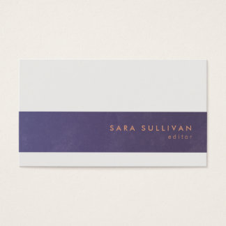 Editor Print Publishing Elegant Violet Stripe Business Card
