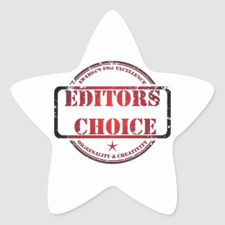 Editors choice products star sticker