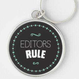 Editors Rule Keychain – Black