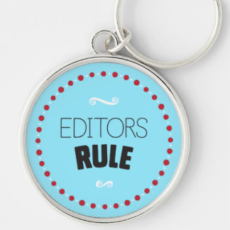 Editors Rule Keychain – Blue