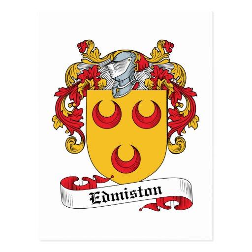 Edmiston Family Crest Post Card