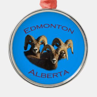 Edmonton, Alberta Silver-Colored Round Ornament