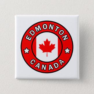 Edmonton Canada 2 Inch Square Button