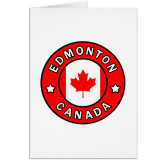 Edmonton Canada Card