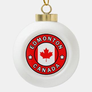 Edmonton Canada Ceramic Ball Christmas Ornament