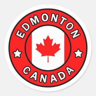 Edmonton Canada Classic Round Sticker