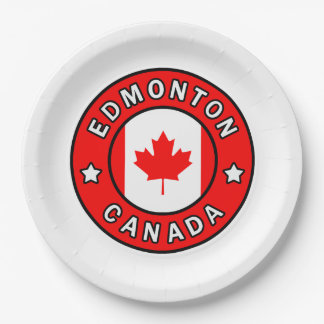 Edmonton Canada Paper Plate