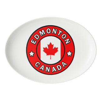 Edmonton Canada Porcelain Serving Platter