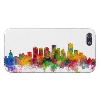 Edmonton Canada Skyline Cover For iPhone 5/5S