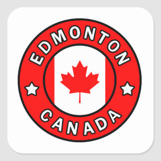 Edmonton Canada Square Sticker