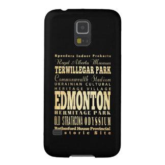 Edmonton City of Canada Typography Art Case For Galaxy S5