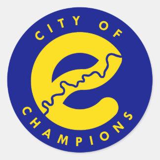 Edmonton City of Champions Round Sticker