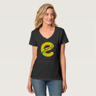 Edmonton Map V-neck T-shirt