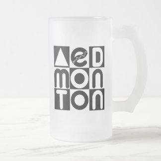 Edmonton Puzzle Fronted Glass Mug