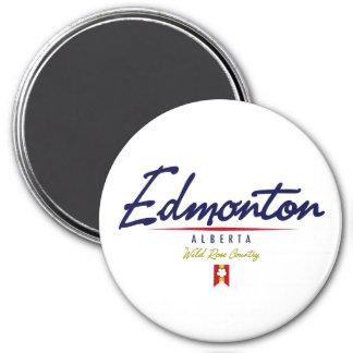 Edmonton Script 3 Inch Round Magnet
