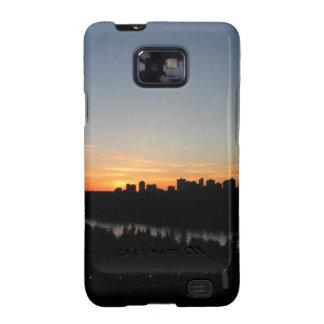 Edmonton Skyline after Sunset Samsung Galaxy SII Cover