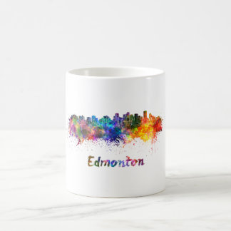 Edmonton skyline in watercolor coffee mug