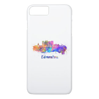 Edmonton V2 skyline in watercolor iPhone 8 Plus/7 Plus Case