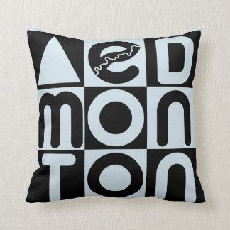 Edmonton Word Puzzle Cotton Pillow