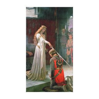 Edmund Blair Leighton Accolade Canvas Print