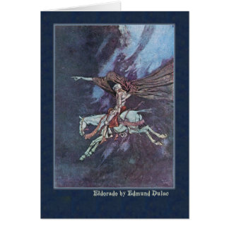 Edmund Dulac Illustrates Edgar Allan Poe Card