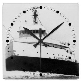 Edmund Fitzgerald Vintage Great Lakes Freighter Wallclocks